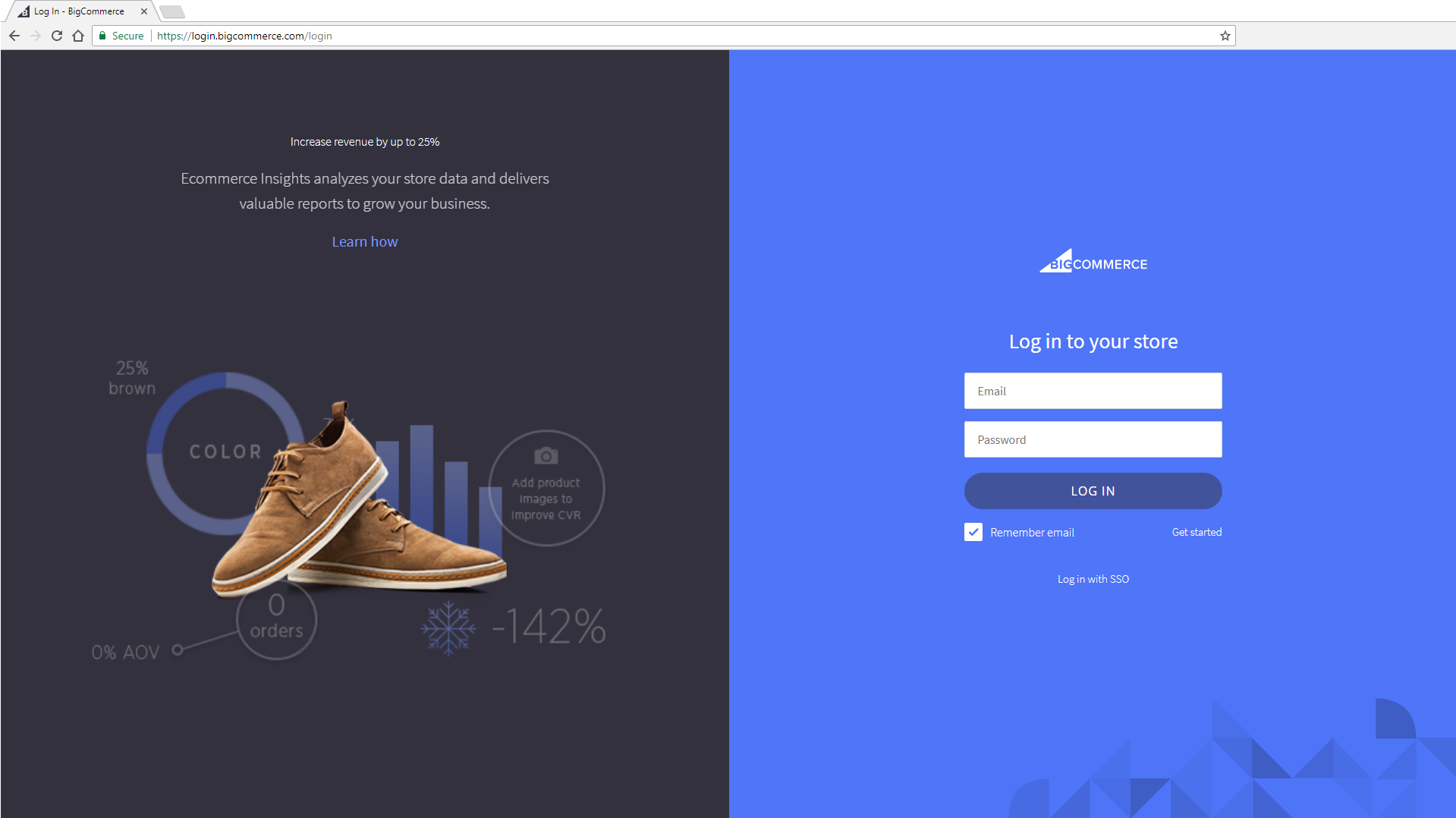 BigCommerce Login Page